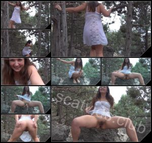[ExtremeScatSex com] Pooping Brunette in the Forest – 2