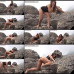 [ExtremeScatSex com] Pooping against the background of rocks