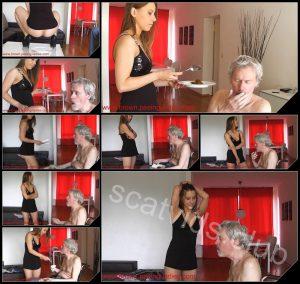 [Scat-Ladies com] Slave Feeding with Scat
