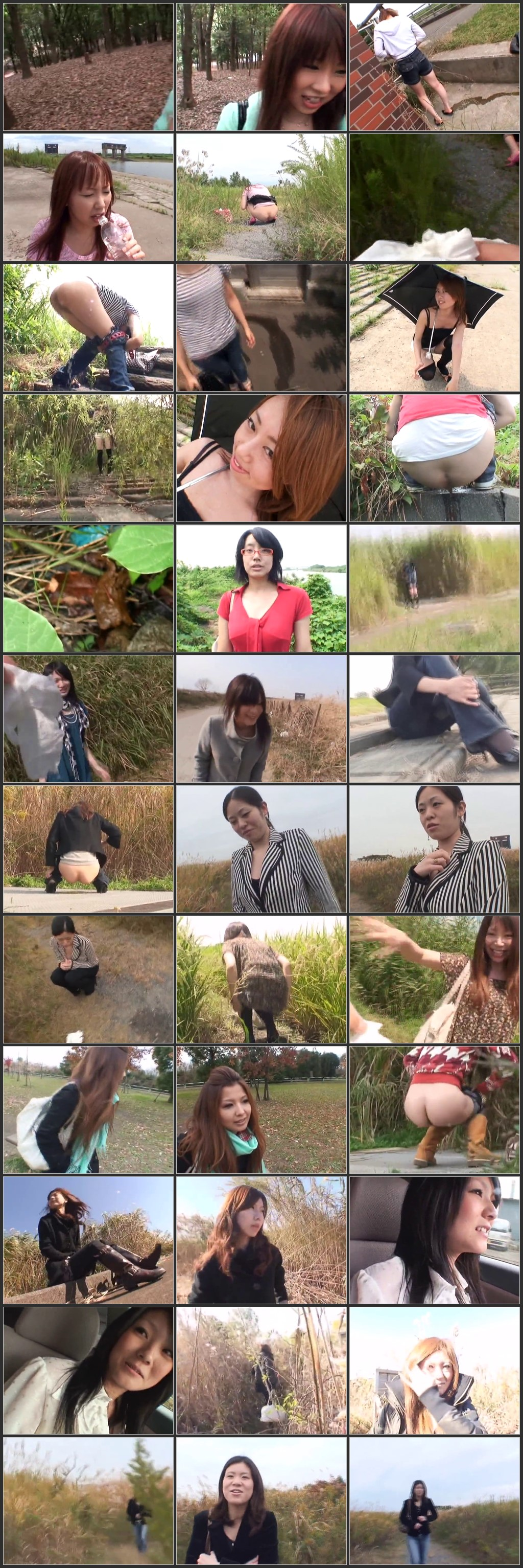 EWAZ 017 B - [EWAZ-017] 実録!! 女友達の野グソ野しょんDX 2 4時間 放尿 Exposure MANIAスカトロ ワケあり