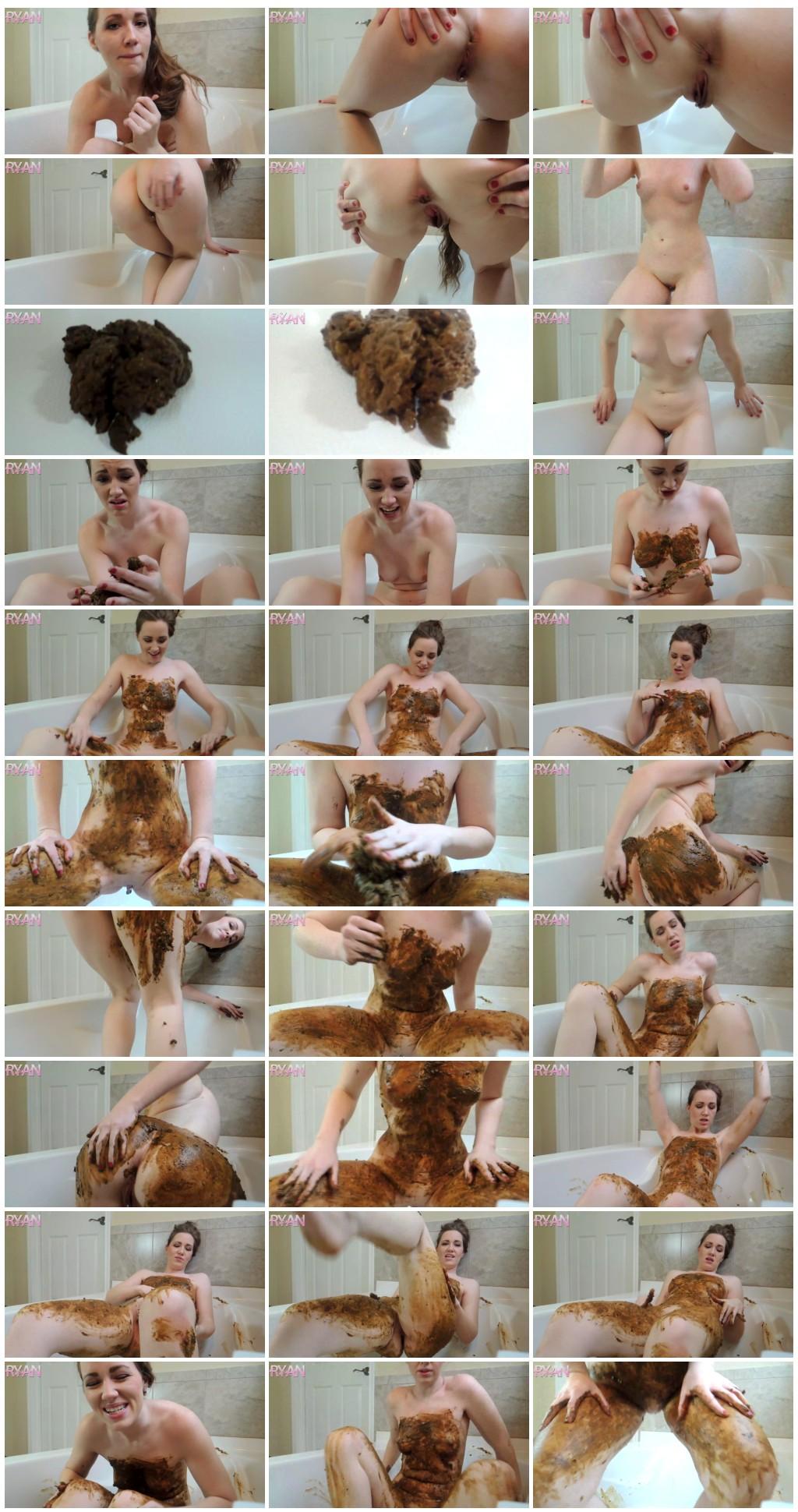 GoddessRyan.com ScatShop.com Goddess Ryan Full Body Extreme Smear in Tub Solo Scat Smearing thumb - [GoddessRyan com - ScatShop com] Goddess Ryan - Full Body Extreme Smear in Tub [ Solo, Scat, Smearing]