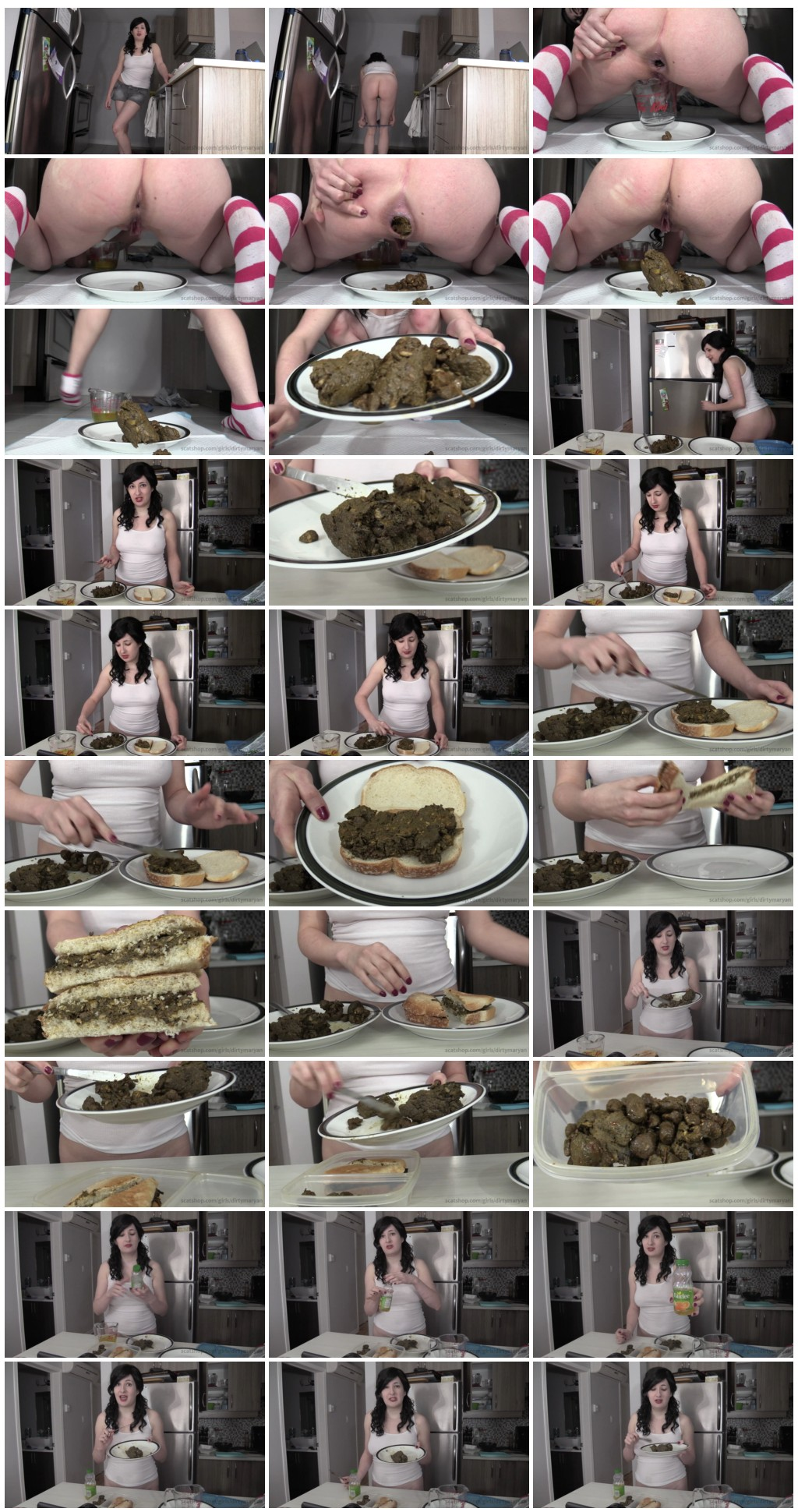Scatshop.com DirtyMaryan Making a shit sandwich for your lunch at work Scat Poop Videos Toilet Slavery thumb - [Scatshop com] DirtyMaryan - Making a shit sandwich for your lunch at work [Scat, Poop Videos, Toilet Slavery]