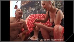 [Veronica-Moser com] Veronica Moser, Veronika and Hans – Dirty Threesome [Scat, Piss, Lesbian, Masturbation, Fingering, Group, Extreme ]