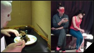 Toilet slave eating 2 shit sitting in a box – MilanaSmelly[Toilet Slavery, Pee, Farting]