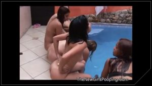 Brazilian girls shitting near the pool – Pooping, pissing girls and scat porn videos  PooPeeGirls Com