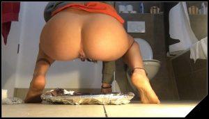 Dinner is served – Emily Jones- Toilet Domination [shit masturbation, dirty anal]