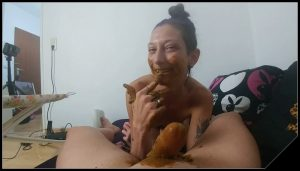 Mouth full of shit and cock blown