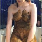 The Big Shit Smear all over my Body - DianaSpark [Poop Videos, Smearing, Pee]