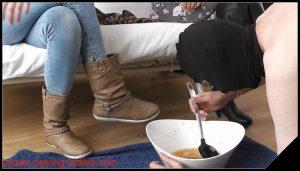 Brown Peeing-Ladies – Learn To Eat Puke Slave