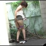 Jade Filth - F15  - Outdoor Invisible Chair Pooping Or Pissing-03[Scat solo, shit,defecation, pissing, farting]