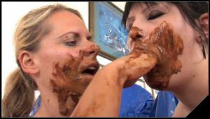 Lady Isabelle with Louise Hunter [Scat Lesbians, shit,defecation,pissing,smearing,toilet slavery,masturbation,lick ass,eat shit]