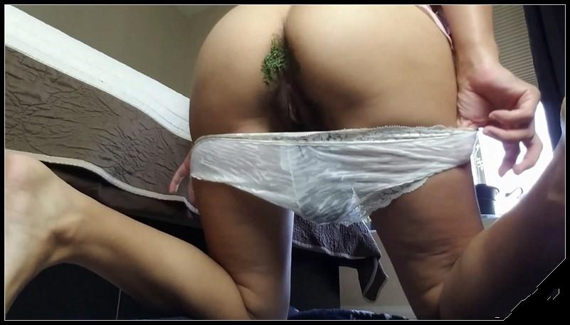 Littlefuckslut - Eat the Poop in My White Panties [Scat solo, shit, defecation, shitty ass, panty pooping, masturbation]