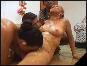 [NewMFX] Chocolate Cake – Latifa, Iohana Alvez, Diana, Karla [Scat Lesbians, shit, defecation, pissing, smearing, masturbation, dildo masturbation, toilet slavery, lick ass, eat shit, Lesbian sex, vomiting]