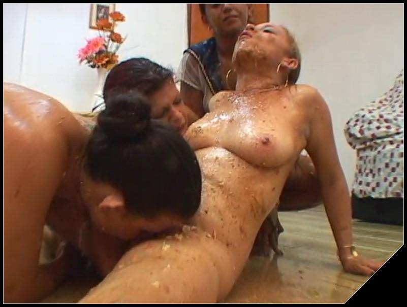 [NewMFX] Chocolate Cake - Latifa, Iohana Alvez, Diana, Karla [Scat Lesbians, shit, defecation, pissing, smearing, masturbation, dildo masturbation,toilet slavery, lick ass, eat shit,Lesbian sex, vomiting]