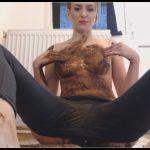 Dianaspark – Pooping My Black Leggings – Face Smearing [Scat solo, shit, defecation, Big Shit, Smearing, Masturbation, Eat shit, Dildo masturbation]