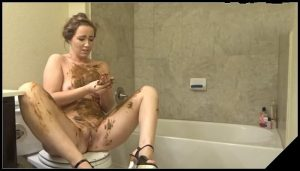 Beautifull chubby girl pooping- [Scat solo, shit, defecation, Smearing, Masturbation]