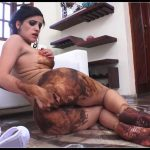 Beautifull girl shitting and smear -[Scat solo, shit, defecation,  Shitty ass, Smearing, Masturbation]