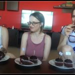 Dianaspark, Ellagilbert, Josslynkane- 3some Backing [Scat solo, shit, defecation,make shit food]