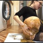 Dirty latina scat fisting On shittytube [Scat solo, shit, defecation,Big Shit, Smearing, Masturbation,Dildo masturbation, Eat shit, Diarrhea, Fisting]