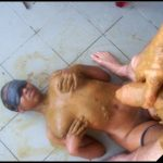 Ebony Scat sex part 2-[Scat sex,  Smearing, Oral sex, Masturbation, pissing,Toilet Slavery, Handjob, Eat shit]
