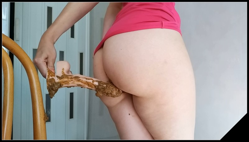 Nastygirl Pooping on Dildo and Playing With It Scat solo shit defecationBig Shit Smearing Dildo masturbation cover - Nastygirl - Pooping on Dildo and Playing With It [Scat solo, shit, defecation, Big Shit, Smearing, Dildo masturbation]
