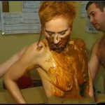 Red head covered in shit Part 2 -[Scat sex,  Smearing, Masturbation, pissing,Toilet Slavery, Eat shit]