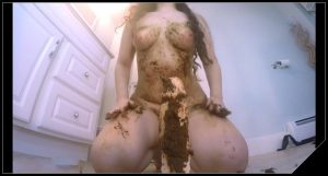Brother-Sister Scat Fuckfest – [Scat solo, shit, defecation, Big Shit, Smearing, Dildo masturbation]