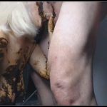 Chubby Granny Eats And Smeers Her Shit - [Scat sex, shit sex, Smearing, Oral sex, Masturbation]