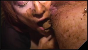 Giving a scat blowjob  – [Scat sex, Smearing, Oral sex, Masturbation]
