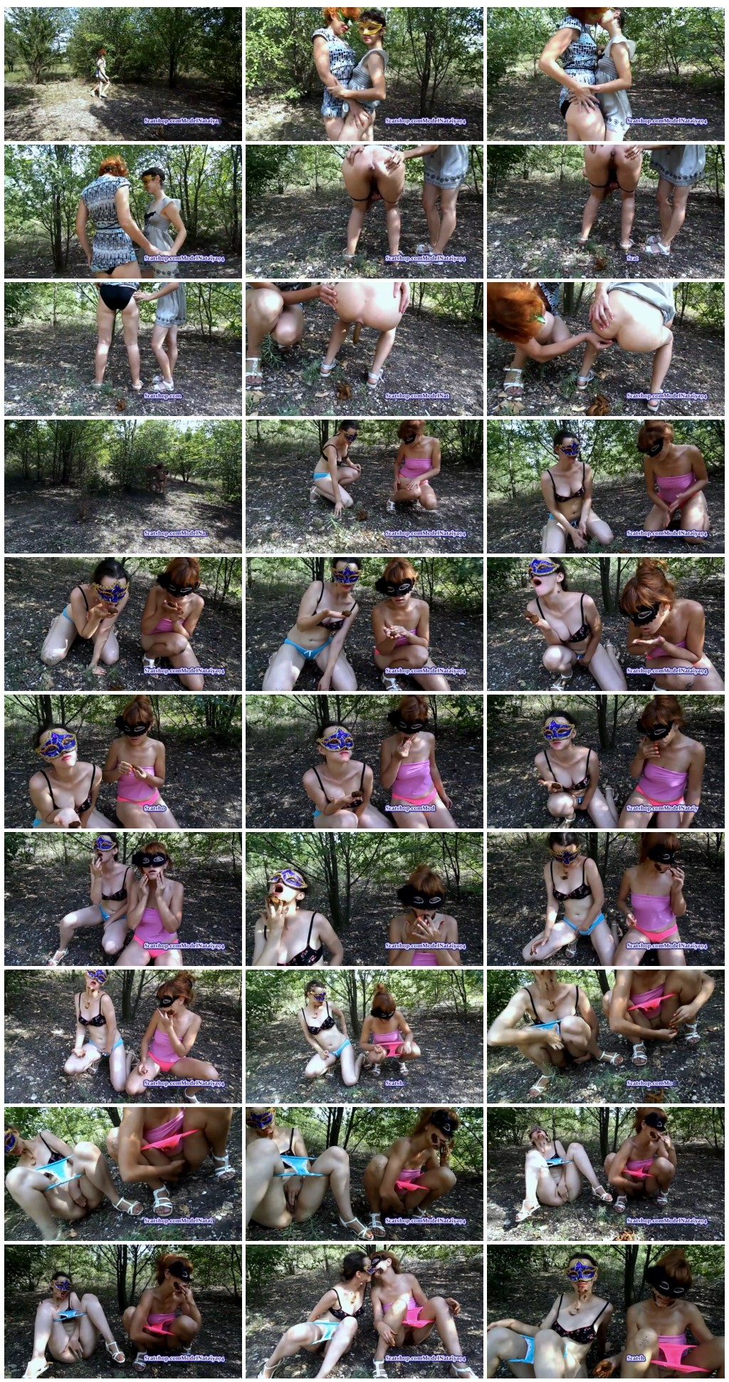 Two girls masturbate with shit outdoor On shittytube [Scat Lesbians, shit, defecation, pissing, Smearing, Eat shit, Masturbation]