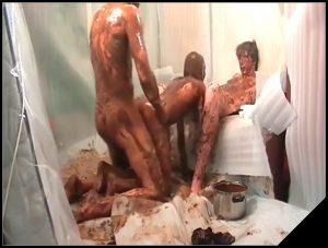 Woman Scat Smear 377 – [Scat sex, shit sex, Smearing, Oral sex, Masturbation,  Blowjob, Handjob]