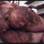 Woman covers herself in shit – [Scat solo, shit, defecation,  Fisting, Dirty Ass, Smearing, Masturbation]