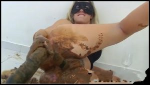 Scat Milf Fucks Shitty Black Dildo – [Scat solo, shit, defecation, Smearing, Dildo masturbation, Fisting, Dirty Ass]