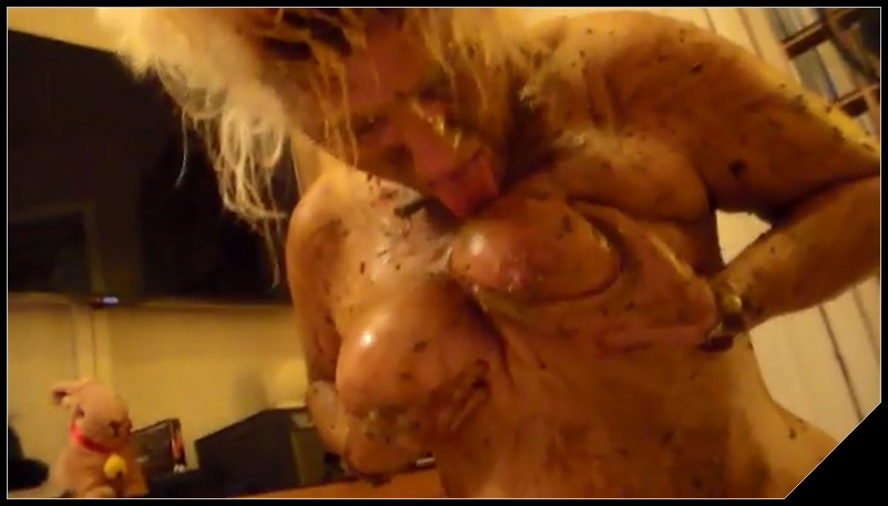 Woman Scat Smear 449 - [Scat solo, shit,  Smearing, Eat shit, Masturbation, Vomiting ]
