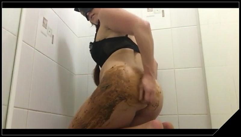 Woman Scat Smear 475 - [Scat, shit, defecation, pissing, Smearing, Masturbation, Dildo masturbation, Dirty Ass]