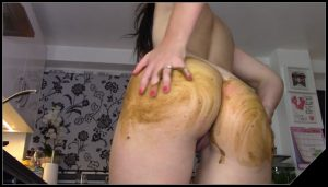 EvaMarie88 – Cum, Pee, Poo And Smear [Scat solo, shit, defecation, Dirty anal, Masturbation,  Big Shit, Smearing, Pissing]