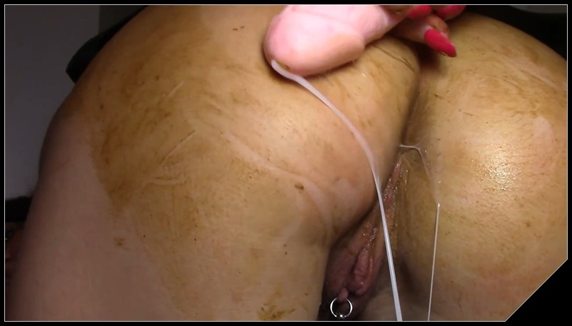 EvaMarie88 - Cum To My Panty Shit [Scat solo, shit,  Dirty anal, Masturbation, Panty pooping, Smearing, Pissing,  Dildo masturbation]
