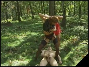 Two Girls Piss A Man In The Wood [Scat, pissing, Femdom ,Toilet Slavery, Handjob,Drink pee]