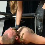 Another slave force feeding [Scat,  shit, defecation, Smearing ,Femdom , Domination, Eat shit , Humiliations, Groups-Couples, Facesitting]