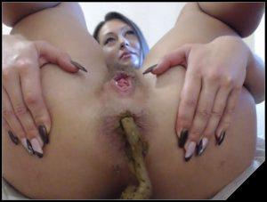 Marisha, Arisha  1 [Scat , shit, defecation,  Big Shit, Dirty Ass, Masturbation, ,Lesbian, Dildo masturbation]
