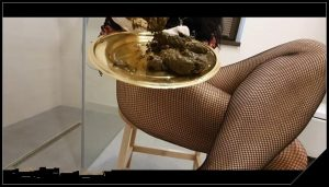 Sexy teasing with caviar and champagne [Scat solo, shit, defecation, Masturbation]
