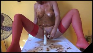 DirtyScatGirl – Potty [Scat solo, shit, defecation, Pissing,  Masturbation, Dildo masturbation,Smearing,shit in mouth,Fisting, Eat shit, Drink pee, Shit pampers]