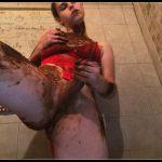 Messy Shower Poo 1 [Scat solo, shit, defecation,  Masturbation, Smearing,Gay, Handjob]