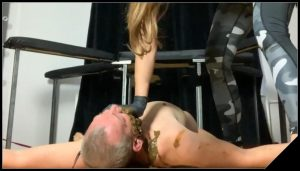 Another slave force feeding [Scat, shit, Femdom ,Toilet Slavery, Domination, Eat shit ,  Humiliations]