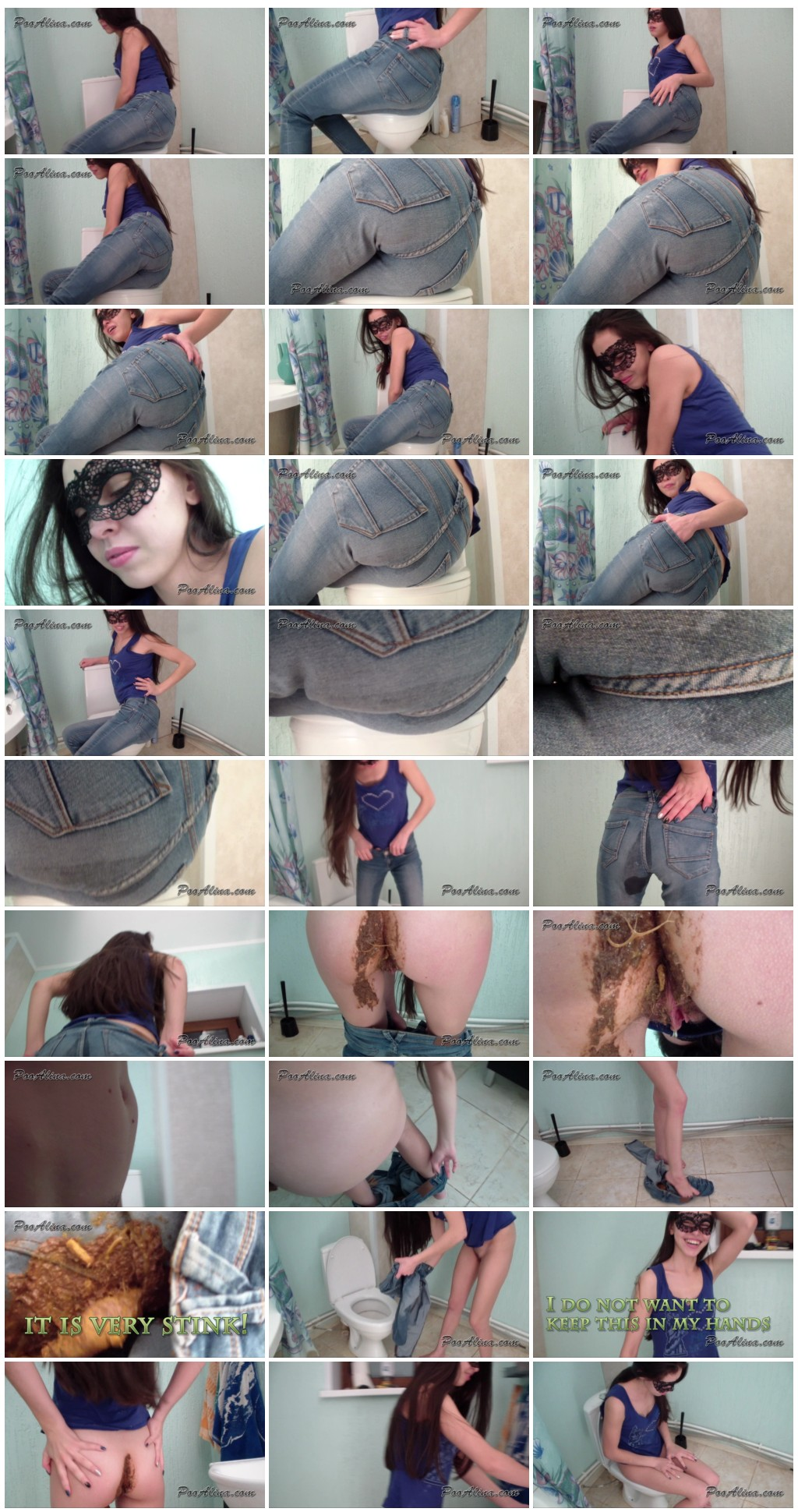 Alina pooping and fart in jeans after a fish with beer Scat solo shit defecation Big ShitMasturbation Dirty AssPissJeans in shit thumb - Alina pooping and fart in jeans after a fish with beer [Scat solo, shit, defecation,Masturbation ,Piss,Jeans in shit]