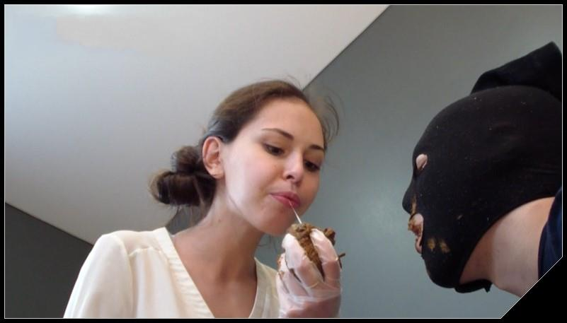 Alina pooping in mouth and playing with a toilet slave Scat shit defecation Femdom Toilet SlaveryFace shit Domination Eat shit  cover - Alina pooping in mouth and playing with a toilet slave [Scat, shit, Femdom ,Toilet Slavery, Domination, Eat shit ]