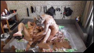 Mistress Natalia Kapretti – Dirty scat party with slave girl [Scat Lesbians, shit,  Dirty Ass, Masturbation,Fisting,Smearing,Licking,Sex Toys, Dildo Masturbation,Lesbian sex]