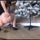 Tegan Brooke - Poo by the Christmas Tree [Scat solo, shit, defecation,  Big Shit, Dirty Ass]