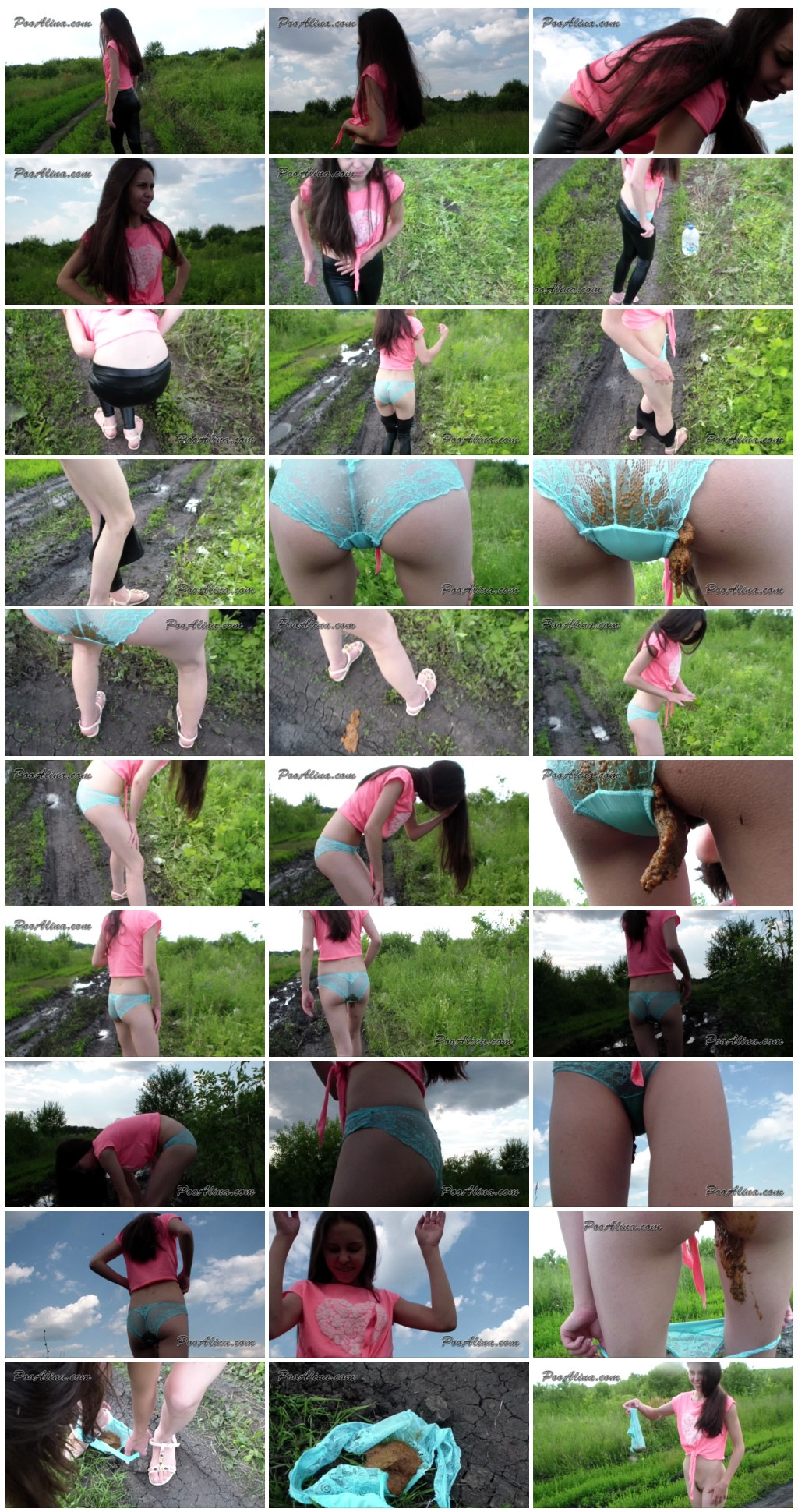 Alina pooping in panties in nature and walking Scat solo shit defecation Masturbation Panty pooping Big ShitDirty Ass thumb - Alina pooping in panties in nature and walking [Scat solo, shit,  Masturbation, Panty pooping, Dirty Ass]