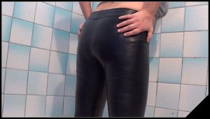 Poop inside leather pants [Scat, shit, defecation, Masturbation, Dirty Leggings]